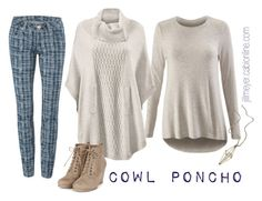 """cabi Fall '15 #11 Cowl Poncho"" by jill-elizabeth-1 on Polyvore featuring CAbi, maurices, CAbiclothing, top20countdown, gridsuperskinnyjean, cowlponcho and pampermetee"