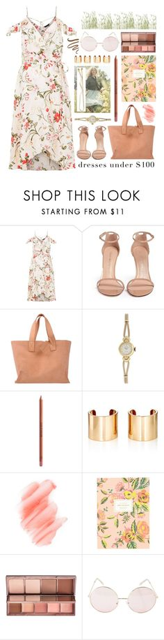 """summertime"" by foundlostme on Polyvore featuring Stuart Weitzman, Pedro García, Rolex, H&M, MAKE UP FOR EVER, Jules Smith, Birchrose + Co., Rifle Paper Co, Urban Decay and Hot Topic"