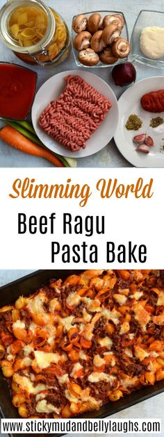 Slimming World Beef Ragu Pasta Bake -You can find Slimming world recipes and more on our website.Slimming World Beef Ragu Pasta Bake - Slimming World Pasta Bake, Slimming World Dinners, Slimming World Recipes Syn Free, Slimming Eats, Slimming World Minced Beef Recipes, Slimming World Food, Campfire Stew Slimming World, Slimming World Burgers, Slimming World Lunch Ideas