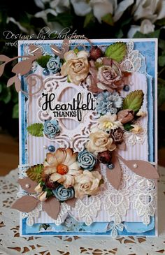 thanks card by Christina Griffiths