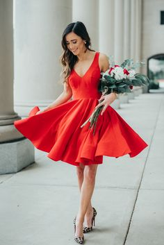 valentines day outfit idea, Valentine's Day, red dress, lady in red
