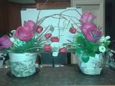 Made a flower arrangement with my love.  Salmon Arm Florist.