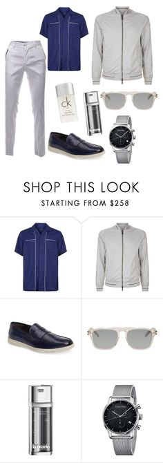 """""""Men's look"""" by svrrvs ❤ liked on Polyvore featuring Lanvin, Armani Jeans, To Boot New York, Yves Saint Laurent, La Prairie, Calvin Klein, men's fashion and menswear"""