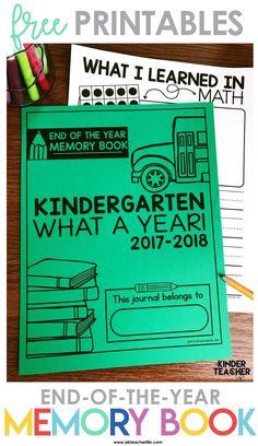 End of the Year Memory Book Kindergarten Graduation, Kindergarten Writing, Kindergarten Classroom, Kindergarten Activities, Preschool, Classroom Ideas, Kindergarten Handwriting, Handwriting Activities, Elementary Teacher