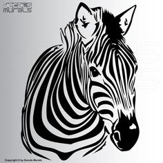 Wall Decals ZEBRA Vinyl Wall Art Interior Decor Stickers By Decals Muralsu2026 Part 50