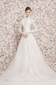 Georges Hobeika Bridal Spring 2017 Long Sleeve High Neck Modest Wedding Dress Stasia Couture Can Make A Similar Gown For Much More