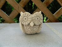 ARTventurous: pinch pot owl
