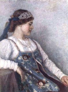 Суриков Василий Иванович  (1848-1916). Портрет Н.Ф.Матвеевой.