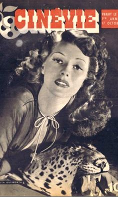 Rita Hayworth on the cover of Cinevie magazine, October 1942, France.