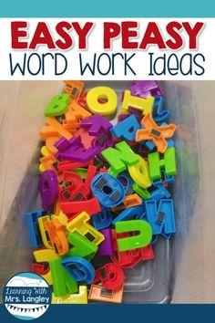 Easy Peasy Word Work