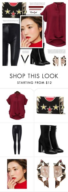 """""""Red; Rosegal"""" by defivirda ❤ liked on Polyvore featuring Givenchy, Nak Armstrong and plus size clothing"""