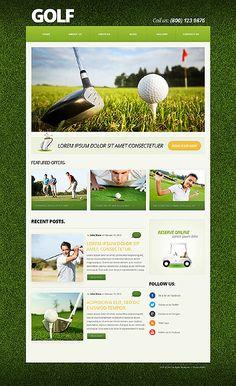 Template 50588 - Golf Club  Responsive Joomla Template