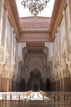 Hassan II Mosque's retractable ceiling.
