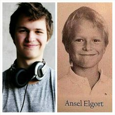 So precious. (Ansel - 19 years old/ Ansel - 9 years old) His smile hasn't changed one bit! SO CUTE!