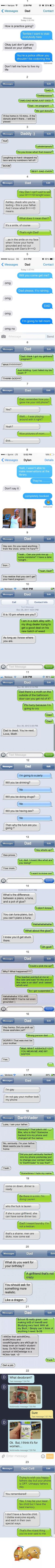 23 texts showing that Dad is the funniest organism in the planet - 9GAG