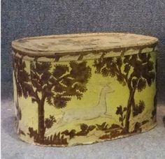 Folk Art Decorated Band Box