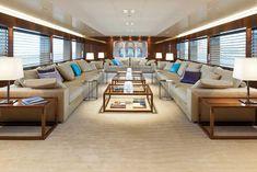 Mega Superyacht Interior Design   ... mega yacht Smeralda - Interior — Luxury Yacht Charter & Superyacht Neutrals with sea/water colors