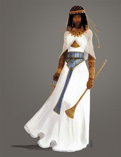 f Cleric Robes Staff Symbol temple urban city midlvl RPG Female Character Portraits : Photo Ancient Egyptian Clothing, Ancient Egypt Fashion, Egyptian Fashion, Ancient Egyptian Women, Ancient Egyptian Costume, Egyptian Jewelry, Ancient Aliens, Ancient History, Clothes Draw