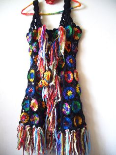 RESERVED for Ana   Upcycled Wool Hippie Crochet par ApricotCircus, $88.20