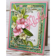 Heartfelt Creations - Pink And Cream Plumerias Project