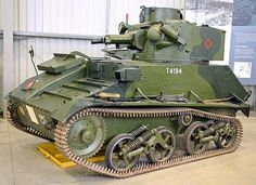 The Vickers light tank Mk VI. The British Army light fast tank at the outbreak of WW2 and remained in front line service until 1942 (also the Arab -Isreali war of 1948).