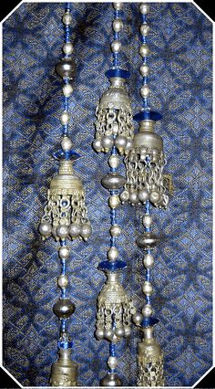 Indian Silver Bells and Beautiful Blue Beads