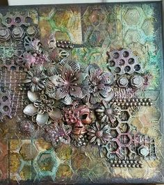 I found on Marta Lapkowska (Maremi's Small Art) - Inspirational Mixed Media on PINTREST Board. -- This is just fantastic Mixed Media Artwork, Mixed Media Collage, Mixed Media Canvas, Altered Canvas, Altered Art, Craft App, Paper Art, Paper Book, Paper Collages