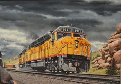 Rare work by prominent railroad artist gets wheels turning for Union Pacific museum show in Omaha, Nebraska. #OmahaHeritage #BlueStoneHomes www.BlueStoneCustomBuilders.com