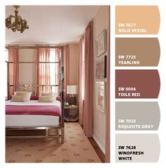 Bedroom. Paint colors from Chip It! by Sherwin-Williams