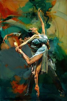 Art of the Day - Marius Markowski If you've been in my home you know I love paintings of couples dancing!!