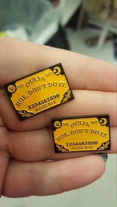 Hey, I found this really awesome Etsy listing at https://www.etsy.com/listing/347013427/hoe-dont-do-it-ouija-board-enamel-pin