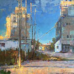 Nancy Tankersley, Complexity of Light, oil, 36 x - Southwest Art Magazine Urban Landscape, Landscape Art, Landscape Paintings, Landscapes, Oil Painting Techniques, Southwest Art, Oil Painting Reproductions, People Art, Magazine Art