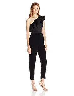 2c615c2e46e2 Buy Cynthia Rowley One Shoulder Ruffle Bonded Satin Jumpsuit online in  India at best price.Jumpsuit One shoulder