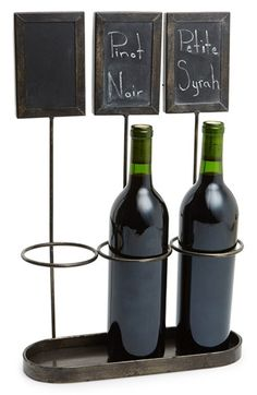 Free shipping and returns on CREATIVE CO-OP Wine Holder at Nordstrom.com. A distressed metal wine rack holds a trio of bottles, while the corresponding chalkboard labels let you list names, years or food pairings of your finest vintages.