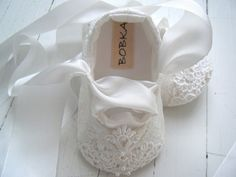 Ordered these for Olivia's Baptism. They have beautiful baby girl shoes.