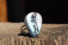 Sterling Silver 925 Teardrop Resin Ring