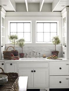 Bright and cheery white kitchen