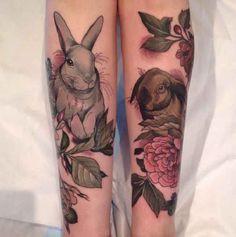 Rabbit 3D tattoo - http://tattootodesign.com/rabbit-3d-tattoo/ | #Tattoo, #Tattooed, #Tattoos