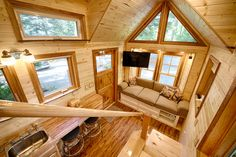 All of this is on a 8.5x 20 foot trailer! Tiny House Hope Cottage on Wheels has a double Dutch-door, a safe stairway to the sleeping loft and two skylights. It's like sleeping under the stars ! The bathroom has a two person FAR Infrared sauna