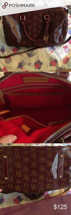 """‼️FLASH SALE‼️ Authentic Dooney and Bourke Handbag Very gently used, genuine leather, still smells brand new!  No flaws. I used this bag once. The measurements of the bag are:  7.5"""" high, 6.5"""" wide at the widest point, and 11.25"""" long. The shoulder 31.5"""" and it is adjustable. strap measures No trades, and no PayPal.   🌺 Bundle to save $$ 🌺 I offer personalized bundles, just ask 👍🏻 🌺 Use the offer button 👇🏻 🌺 Smoke and pet free home 🌺 ALL cosmetic items NEW never used, or swatched 🚫…"""