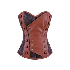 Authentic Steel Boned Steampunk Overbust Corset (€75) ❤ liked on Polyvore featuring intimates, shapewear, corset and steampunk