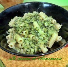 Sedanini con zucchine e philadelphia light