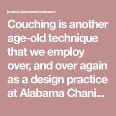 """Couching is another age-old technique that we employ over, and over again as a design practice at Alabama Chanin. When embellishing, we often use cotton jersey pulls as appliqué to give weight and a sculptural quality to our crafted garments and home goods. From page 110 of Alabama Studio Sewing + Design: """"At Alabama Chanin,... Read on"""
