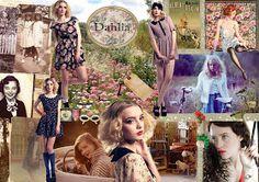 Fashion Moodboard - dreamy vintage florals