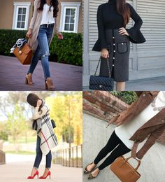 fall outfits plaid cardigan moto jacket chanel-esque tweed skirt bell sleeves long cardigan, weekend style, fall outfit idea, burberry plaid dupe sweater, petite fashion blog - click the photo for outfit details!