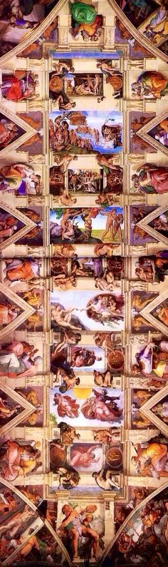 Michelangelo's ceiling of the Sistine Chapel.