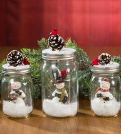 Awesome Christmas deco info are offered on our site. Read more and you wont be sorry you did. Mason Jar Christmas Crafts, Christmas Centerpieces, Diy Christmas Gifts, Christmas Projects, Holiday Crafts, Xmas Decorations, Christmas Time, Magical Christmas, Diy Decoration
