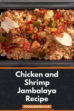 Jambalaya Chicken and Shrimp is a very tasty and easy chicken recipe, this dish uses one pan prepared using rice, chicken, shrimp and sausages Jambalaya Soup, Chicken Jambalaya, Jambalaya Recipe, Gumbo, Shrimp And Rice Recipes, Easy Chicken Recipes, New Orleans Recipes, Haitian Food Recipes, Louisiana Recipes