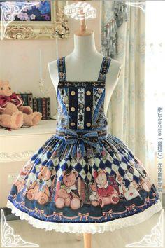 Pink Up -Royal College Bear- Lolita Salopette #Leftovers
