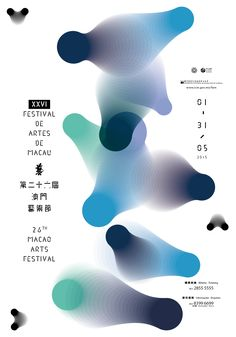 Macao Arts Festival - 2015 - (Gradient shapes by stages) - Poster Design, Graphic Design Posters, Graphic Design Inspiration, Graphic Design Typography, Gig Poster, Collage Poster, Film Festival Poster, Art Festival, Onam Festival